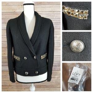 LOFT Jackets & Coats - NWT LOFT 2P 2 Embellished Wool Blazer Jacket